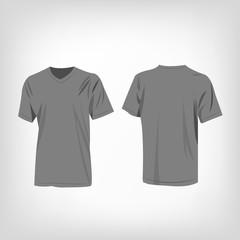Grey T-shirt vector