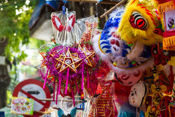 Traditional decorations,it's used in mid-autumn festival in Vietnam, this is the largest festival in the year of Asians