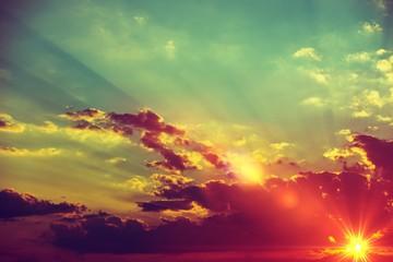 Sunset Scenery Background