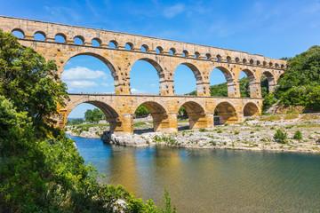 Aqueduct of Pont du Gard - the highest in Europe