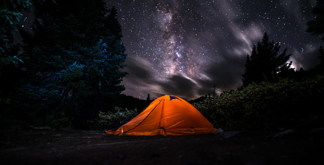 Tent under The Milky Way