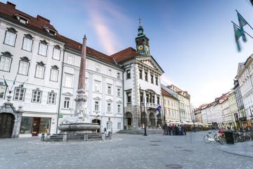 Town Hall of Ljubljana, Slovenia