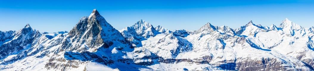 Alpy Szwajcarskie - Matterhorn, Szwajcaria, panorama