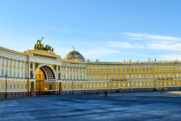 Arch of General Staff in St. Petersburg, Russia.