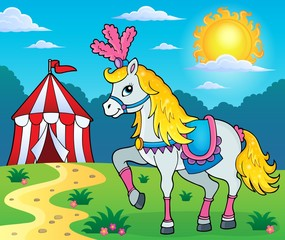 Circus horse theme image 3