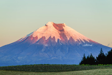 Cotopaxi Volcano Ecuador At Sunset