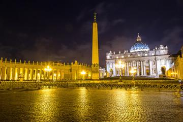 Vatican at night