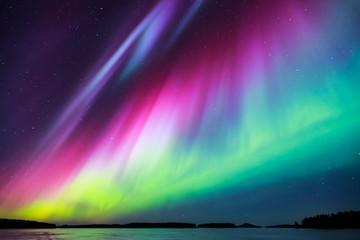 Zorza polarna (Aurora borealis) na niebie