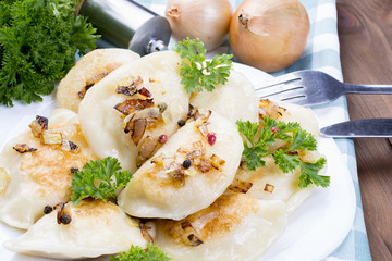 homemade pierogi dumplings