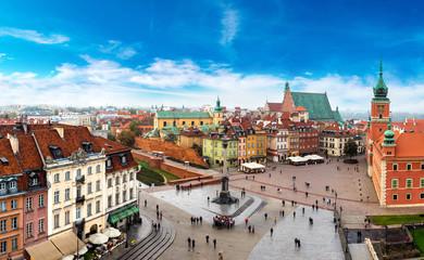 Panoramiczny widok na Warszawę