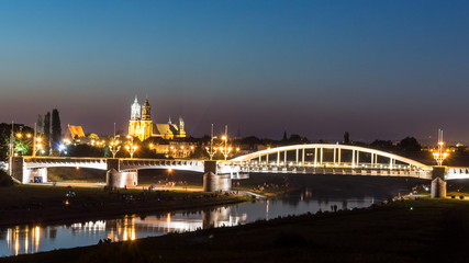 St. Rocha Bridge with Poznan Cathedral