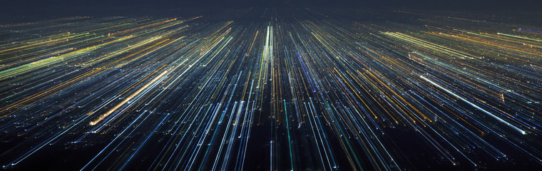 Abstract Light City Speed Motion
