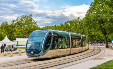 A tram in Bordeaux - France, Aquitaine