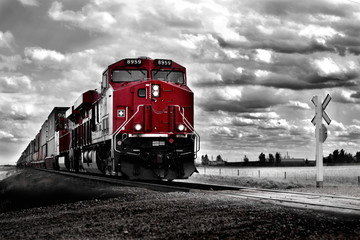 Pociąg towarowy Kolor pop