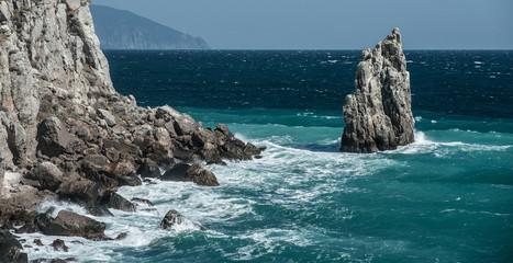 cliff in the sea