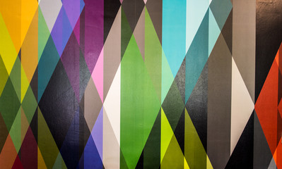 Colourful triangles abstract pattern geometric shapes