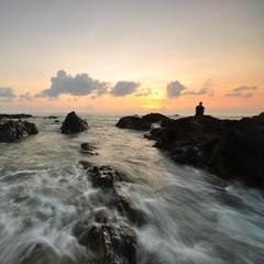 Beautiful nature views at south chinese sea, Malaysia coastline.