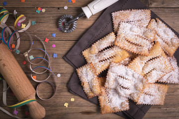 Fried chiacchiere carnevale