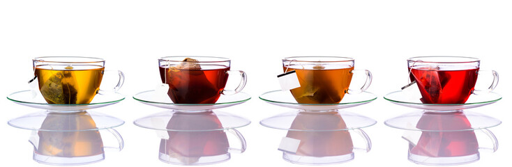 Tea Cups with Bags in Collage