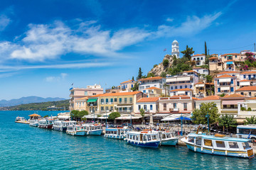 Poros island in Greece
