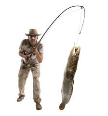Fisherman with big fish
