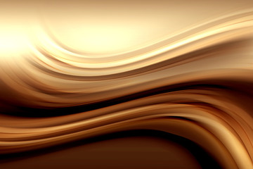 Abstract Gold Wave Design Background