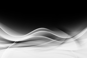 Abstract Black White Wave Design Background