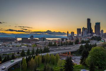 Seattle, Sunset view from dr. Jose Rizal bridge