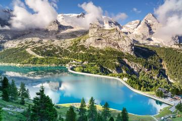 Marmolada lodowiec, dolomity góry, Włochy