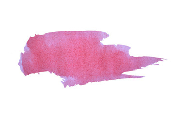 Abstract splash of watercolor on white background