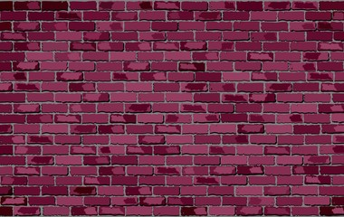 Burgundy brick wall - Illustration, 