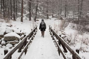 paesaggio innevato a Pont, in Valsavaranche, nel Parco Nazionale del Gran Paradiso (Valle d'Aosta)