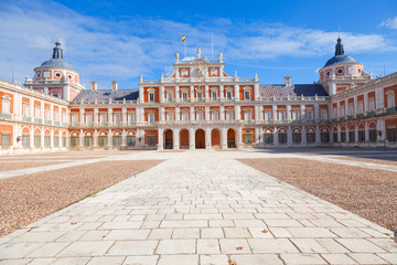 Royal Palace of Aranjuez, main court . Community of Madrid, Spain