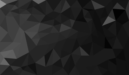 Black abstract geometric triangular polygon style illustration graphic background