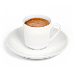 Turkish coffee, foamy