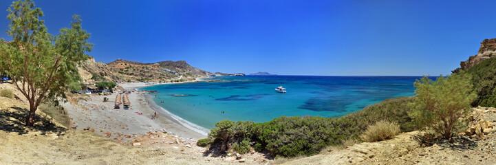 Panoramafoto Triopetra Strand / Insel Kreta