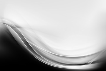 Awesome Abstract Black and White Wave Design
