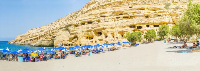 Matala beach, Crete.