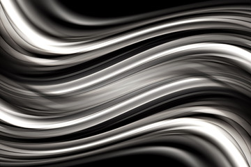 Abstract Black and White Wave Design Grey Scale Background