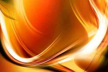 Light Gold Waves Design Background