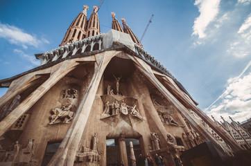 BARCELONA, SPAIN - January 12: La Sagrada Familia by Gaudi, buil