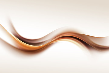 Gold Brown Wave Design Abstract Background