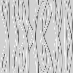Seamless Design Creativity 3D Background of Lines, Vector Illustration.
