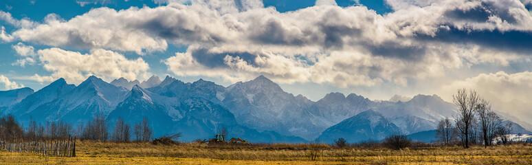 Panorama górska Tatry