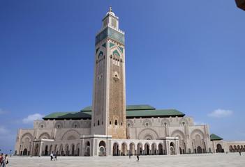 beautiful mosque Hassan second in Casablanca, Morocco