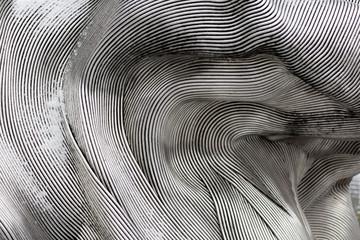 Tekstura tło błyszczącej powierzchni metalu. Zakrzywiona płyta jest wykonana z żelaza.