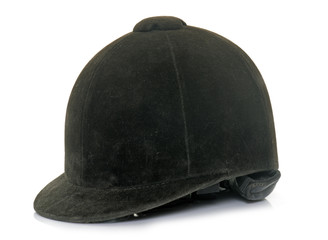 czarny kask jeździecki