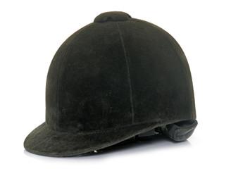 black Equestrian helmet