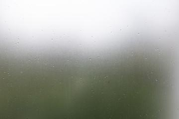 clear glass, water drops splash on transparent mirror window