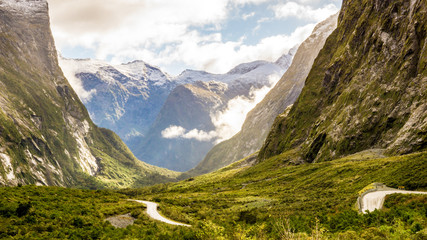 On the way to Milford Sound in the South Island, New Zealand